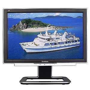 "VIEWSONIC 20"" WIDE SCREEN LCD MONITOR & HP 17"" LC DMONITOR"