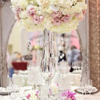 "20"" reversible glass vase $9.99 wedding centrepiece"