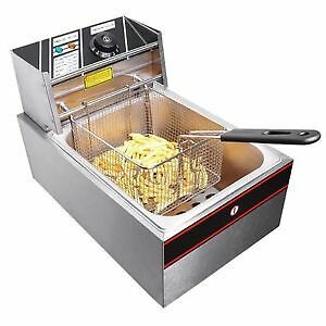 Friteuse Fryer Frites Commercial 6 L. 2500 Watts Restaurant