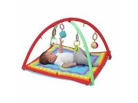 Baby playmat and baby bouncer