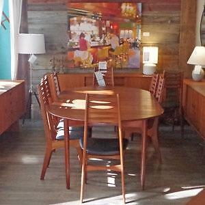 Sale on Mid Century Teak and Rosewood Dining Tables