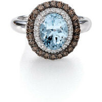 Le Vian Sea Blue Aquamarine And Chocolate