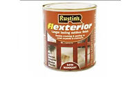 Rustins Flexterior 2.5 ltr Satin Mahogany Ideal for use on new, planed & sawn soft and hard wood x 2