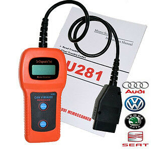 U281 DIAGNOSTIC OBD2 SCANNER+CODE READER FOR AUDI+VW-BRAND NEW