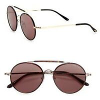 Tom Ford Samuele Round Sunglasses (Brown) (Like New)
