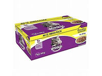 Whiskas Cat Food Pouches Poultry Selection in Jelly Mega Pack 40 X 100g Pouches