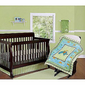 Step by Step BABY CRIB BEDDINGS SET 3pc Elephant