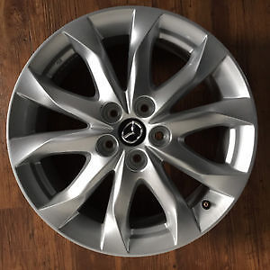 "MINT 2015 Mazda 3GT 18"" alloy rims/wheels only 27km on them"