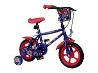 Monster hero 12 inch bike with stabilisers