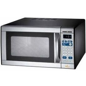 Black and Decker Stainless Steel Microwave Oven