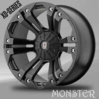 XD MONSTER WHEELS 20 INCH WITH 35 12.50 20 BRAND NEW
