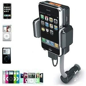 Hands-free Car Kit, FM Transmitter & Charger For iPhone & iPod