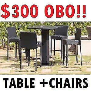 JYSK --- HEBE Patio BAR TABLE + CHAIRS (3 Pc Set) --- $300 OBO!!