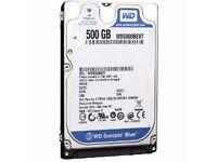 Western Digital Scorpio Blue 500GB Sata 8MB Cache 2.5 Inch Internal Hard Drive OEM