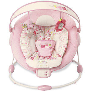 Girls Pink Bright Starts Comfort and Harmony Cradling Bouncer