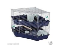 Double tiered rabbit cage