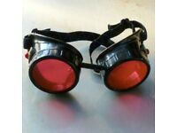 Red steampunk glasses