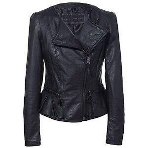 Zara  Ruffle Leather Jacket size XS Aranda Belconnen Area Preview