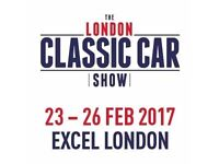London Classic Car Show ticket for sale!