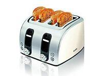 AEG AT7100w-u Four Slice Toaster (New)