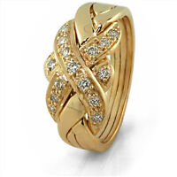 Womens 4 band puzzle ring