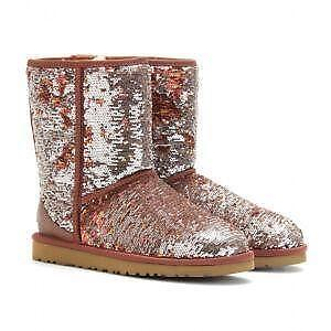 brown and silver sequin uggs