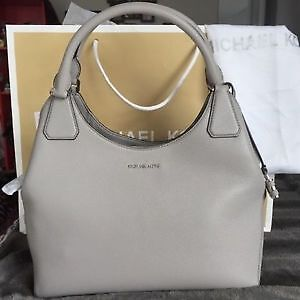 BRAND NEW Authentic, Pearl Grey, Michael Kors Shoulder Tote