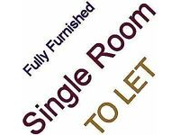 Single Room To Let - Fully Furnished - For One Person Only