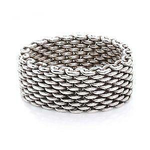 adc363ba3af Tiffany Sterling Mesh Rings · Tiffany   Co Sterling Silver Somerset Mesh  Ring ...