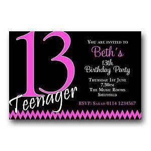 Birthday invitations party invites ebay 13th birthday invitations filmwisefo