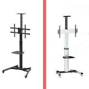 Weekly  Promo!  Universal Mobile TV Cart Stand,  TV Cart with wheels, TV Bracket and dvd shelf,