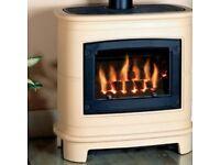 Living flame coal effect gas fire