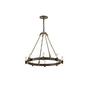 Industrial Style Wrought Iron Chandelier