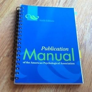 6th edition APA Manual coiled spine