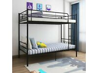 GET IT TODAY METAL BUNK BED HIGH QUALITY SINGLE 3FT STANDARD SINGLE SIZE SAME DAY