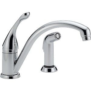 Delta Kitchen Faucet with Spray Hose