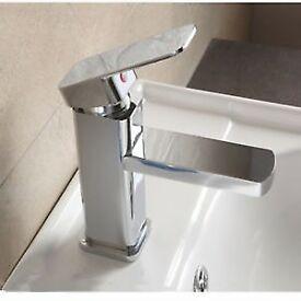 Brand New Boxed Bathroom Waterfall Chrome Bar Mixer Basin Sink Mixer Tap