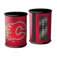 Calgary Flames Can/Bottle Holder with Thermometer (New)