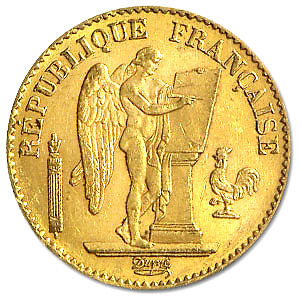 France Gold 20 Franc Lucky Angel Coin Random Year Xf