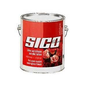 vente peinture sico latex acrylique à partir de 22 $ / gallon (classique,chachemire,chamois,shantung)