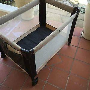 Portable cot - bebe Madrid EUC inc foam mattress Mooroolbark Yarra Ranges Preview
