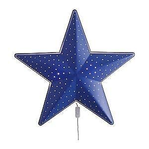 IKEA 'SMILA' children's blue star wall night light Lane Cove West Lane Cove Area Preview