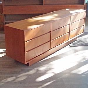 Stunning Mid Century Teak and Walnut Dressers