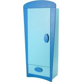 IKEA blue Mammut wardrobe with drawer. Very good condition.