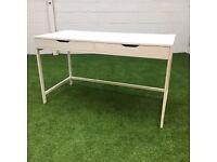 White Storage Desk in white