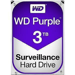 WD Purple 3TB Hard Drive Surveillance WD30PURZ SATA 6 Gbs