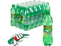 PEPSI AND 7 UP 500 ML X 24 BOTTLES BEST BEFORE FEB 2017