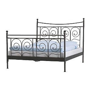 IKEA Black Rod Iron Bed Frame (Double)