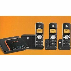 Motorola DECT 6.0 -3 handsets & vonage adapter just $25 for all