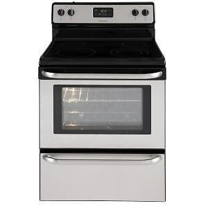 """Very Clean Frigidaire stainless steel 30"""" electric ceramic range"""